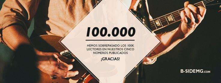 ¡Hemos sobrepasado los 100.000 lectores en nuestros cinco números publicados! Estamos de enhorabuena. Millones de gracias por creer en B-side Magazine http://b-sidemg.com/magazine-5/