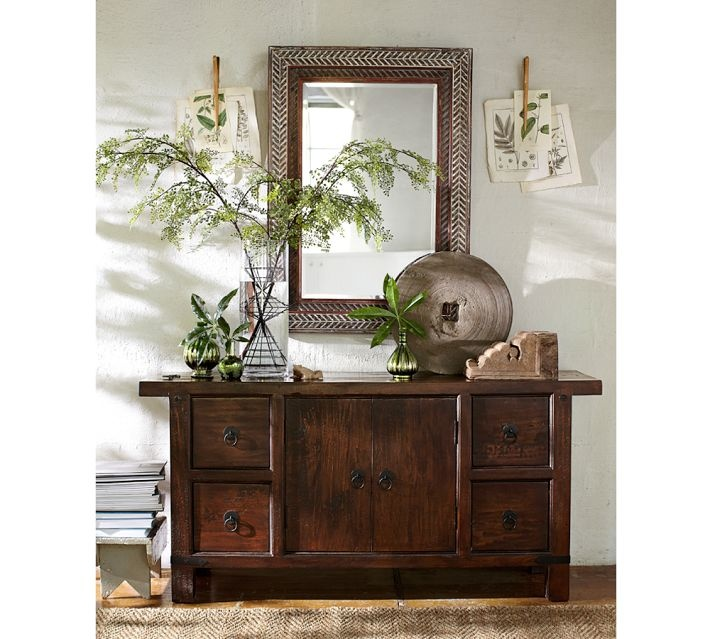 Potterybarn repisas foyer credenza entryway end for Pottery barn foyer ideas