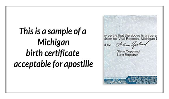 This is a sample of a Michigan birth certificate acceptable for - official birth certificate template