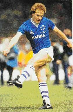 Andy Gray of Everton in 1984.