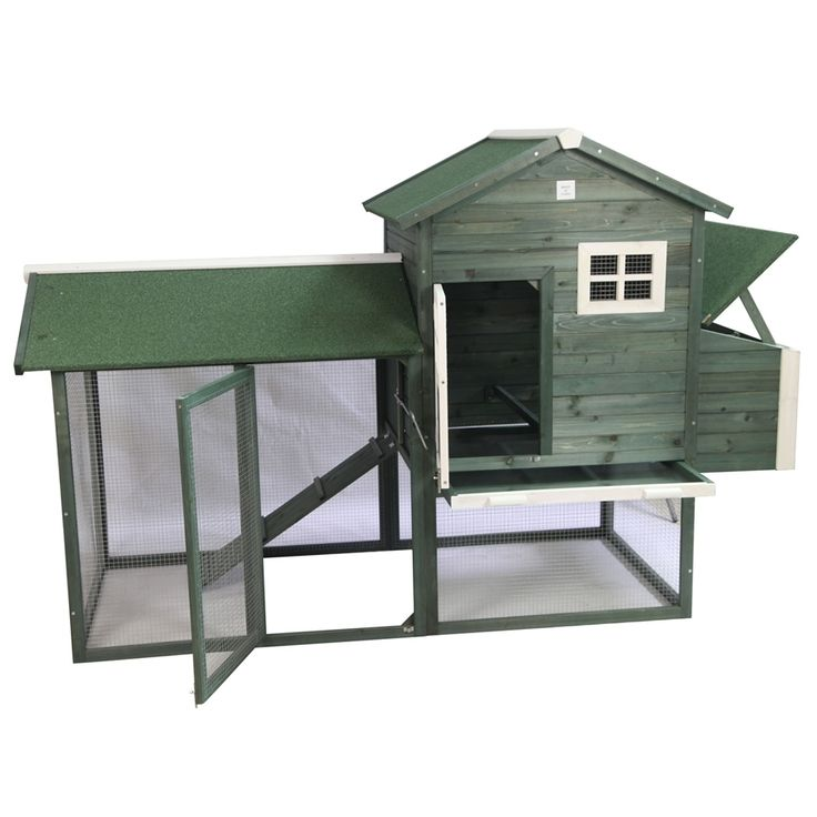 pawhut green backyard chicken coop 1