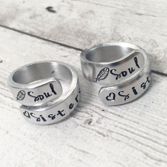 Best Friend Rings - Soul Sisters ~ by theKRAFTbox on Etsy