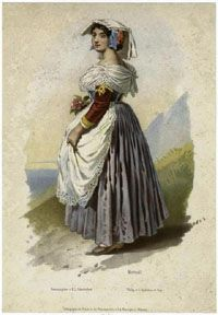 Lombardy Italy traditional costume