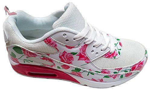 gibra , Baskets pour femme - Blanc - Weiß/Pink, 39 - Chaussures gibra (*Partner-Link)