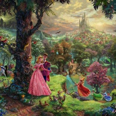 Thomas KinkadeDisney Dreams | The Thomas Kinkade Company  Sleeping Beauty