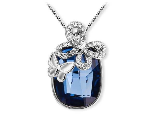 Economico Animal Design Blue Austrian Crystal Butterfly Pendant Necklace Made With Swarovski Elements Statement Jewelry For Women NXL0140, Acquisti di Qualità Collane del pendente direttamente da Fornitori Animal Design Blue Austrian Crystal Butterfly Pendant Necklace Made With Swarovski Elements Statement Jewelry For Women NXL0140 Cinesi.