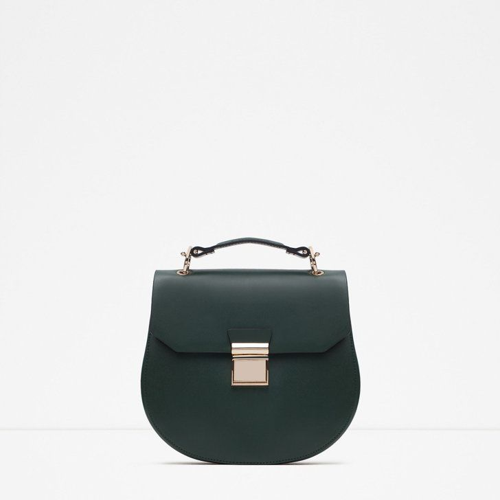 Pin for Later: The 22 Most Amazing Things at Zara Right Now — All Under $200  Oval Messenger Bag ($40)