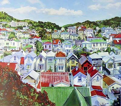 Summertime Wellington by Marianne Muggeridge for Sale - New Zealand Art Prints