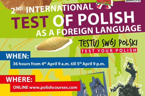 online: 36 hours from 9.00 a.m. 4th April till 9.00 p.m. 5th April 2014  The test is held under Link to Poland media patronage.