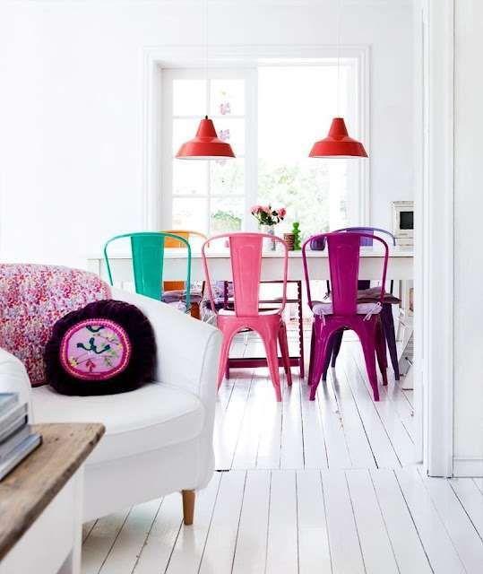 Sedie in stile scandinavo - Sedie colorate in metallo