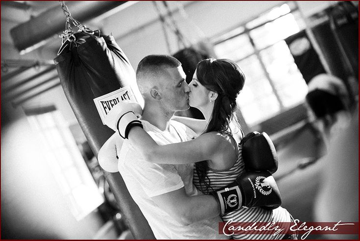 Combat sport inspired engagement photos