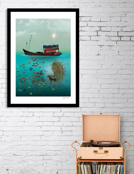 Discover «Fishing», Limited Edition Fine Art Print by Dorus  Verwiel - From 27€…