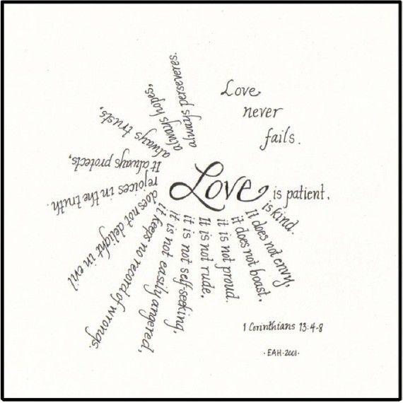 1 Cor 13:4-8.    Love this!!