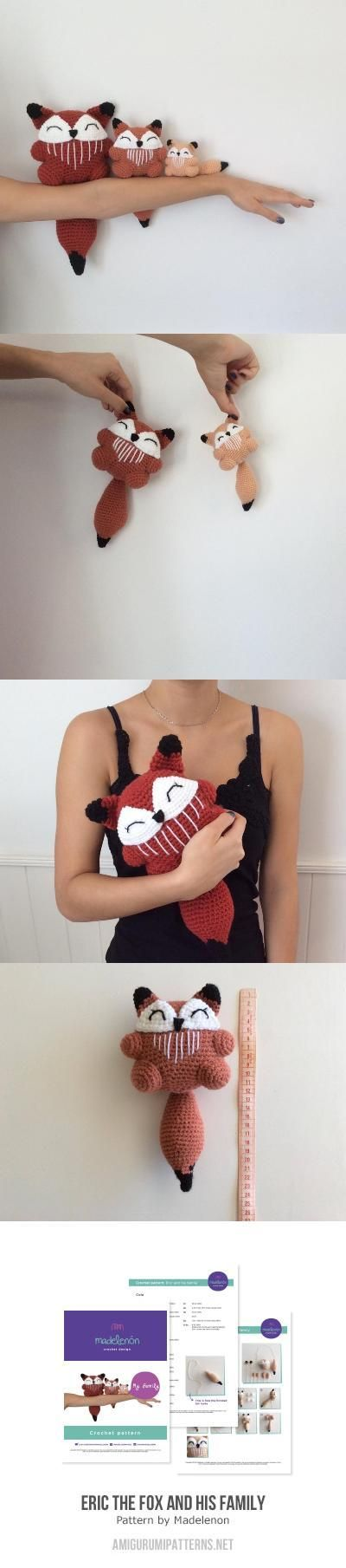 Eric The Fox And His Family Amigurumi Pattern