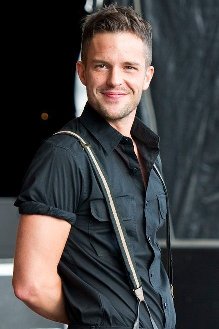 Brandon Flowers (The Killers) Just saw them in concert. He was amazing.  .