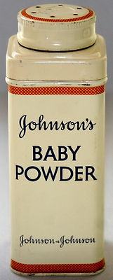 VTG Old Johnsons Baby Talcum Talc Powder 4oz Collectible Tin Advertising NJ VGC!