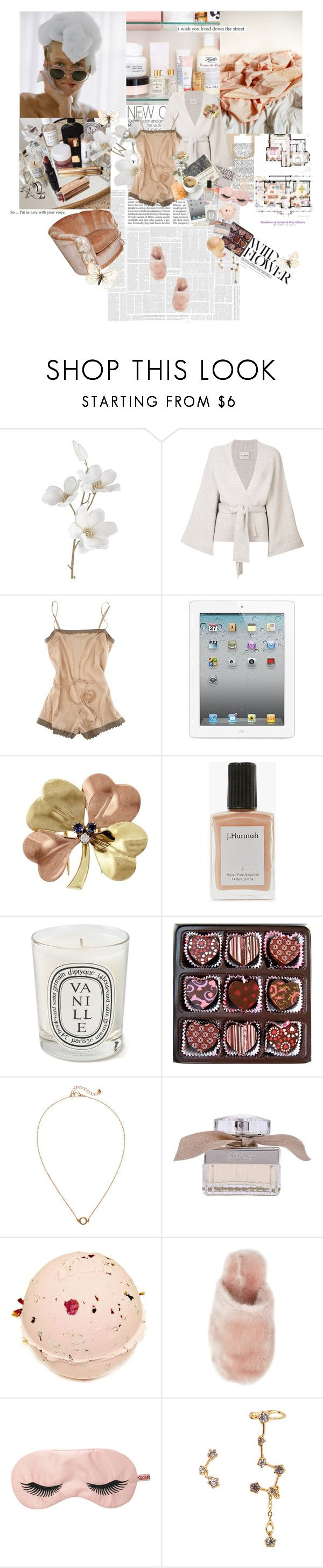 """""""peace of mind"""" by la-rosy ❤ liked on Polyvore featuring Pier 1 Imports, Le Kasha, STELLA McCARTNEY, Tiffany & Co., J. Hannah, Diptyque, Mother, Monki, Chloé and J.Crew"""