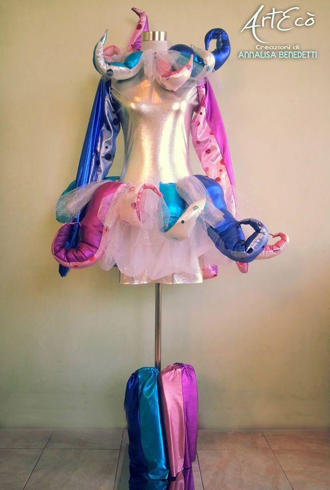 LADY OCTOPUS Style and Hand Made by ArtEcò Creazioni di Annalisa Benedetti #artecocreazioni #annalisabenedetti #octopus #carnevale #carnival #viareggio #art #theatercostume #costume #fantasy #stylist #handmade #madeinitaly #fantasy #creative #cosplay #theater #costume