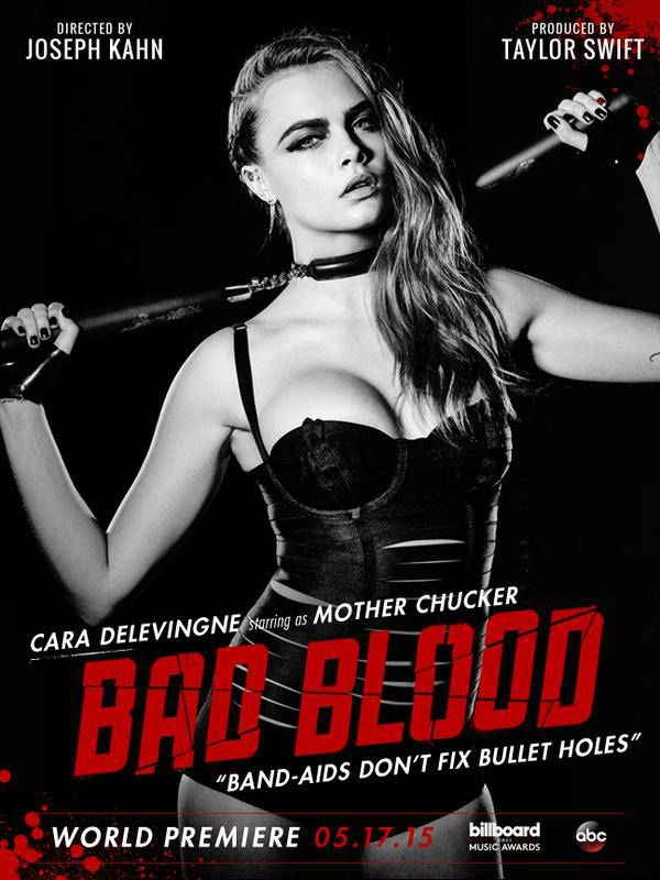 Taylor Swift revealed that former supermodel Cindy Crawford and current supermodel Cara Delevingne will be part of the star studded Bad Blood music video cast. Description from onenewspage.us. I searched for this on bing.com/images