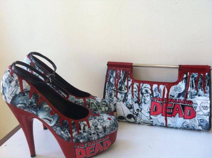 Walking Dead Shoes & Handbag - The Supermums Craft Fair