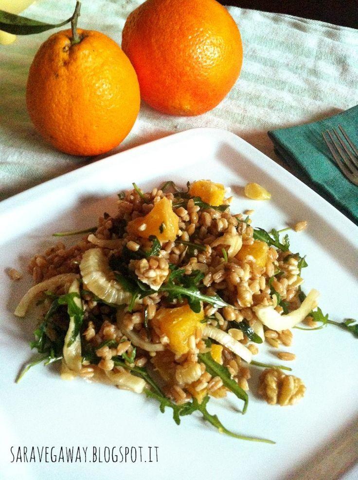 Insalata di farro con arancia e finocchio | Veganly.it - Ricette vegane dal web