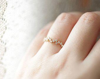 14 anillo embutido del zircon oro k táctica por TInyCamellia
