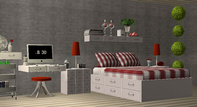 58 best ts2 room sets bedrooms images on pinterest for Bedroom simulator ikea