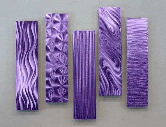 Metal Abstract Modern Purple Wall Art Sculpture by statements2000, $195.00