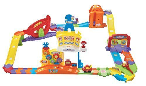 Race Track Toy Go RC Smart Ultimate Speedway Vtech Cars Play Fun Toddler Kids #VTech