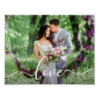 Love Wedding Bride and Groom Photo Poster - married gifts wedding anniversary marriage party diy cyo