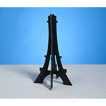The Shimmering Eiffel Tower Centerpiece will bring a little shimmer to your party table. Each of the Shimmering Eiffel Tower Centerpiece features black cardboard covered with glitter.