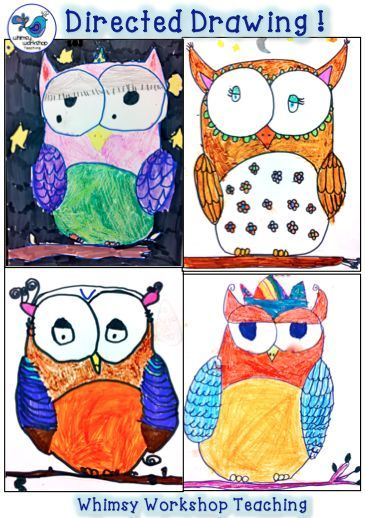 Directed Drawing! A great way to explore fine motor skills, artistic expression, following directions, writing prompts and sharing ideas. Whimsy Workshop Teaching http://whimsyworkshop.blogspot.ca/
