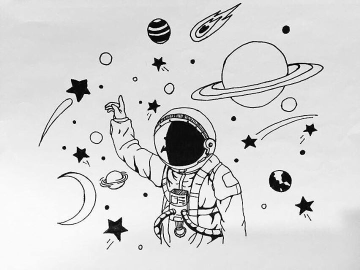 space outer drawings simple drawing untitled astronaut alien