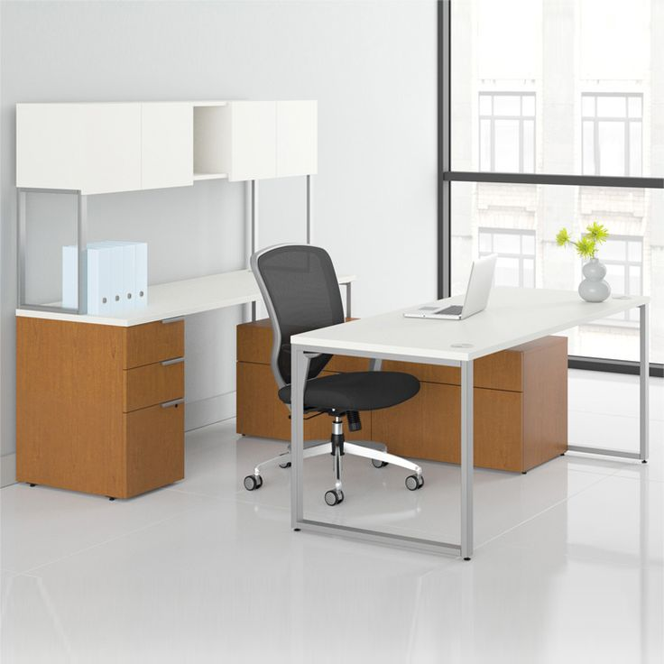 Voi U Shaped Workstation With Low Credenza By HON | SmartFurniture.com