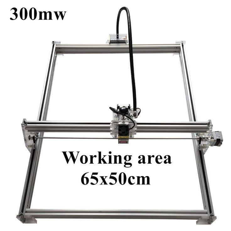 135.00$  Buy now - http://alic1l.worldwells.pw/go.php?t=32771331159 - 300mW Mini desktop DIY Laser engraving engraver cutting machine Laser Etcher CNC print image of 50 X 65 cm Laser Engraver 135.00$