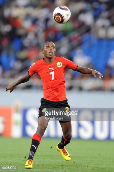 Elias Pelembe of Mozambique in action during the African Nations Cup Group C match between Nigeria and Mozambique at the Alto da Chela Stadium on...