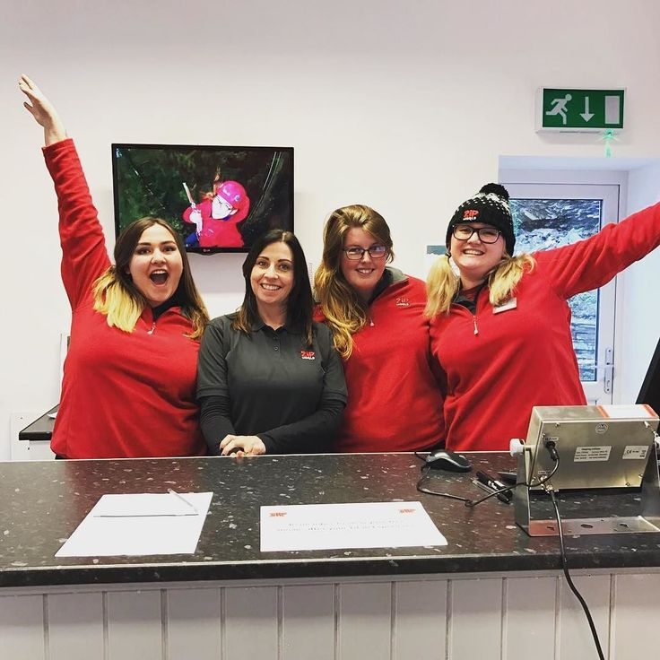 The new Titan check-in team are ready to go for the reopening on April 1st! . #zipworld #zipworldtitan #experienceadventure #northwales #northwalestagram #adventure #alpinecoaster #fforestcoaster #zipworldfforest #family #fun #thingstodo #activities #zipwire #zipline #ExperienceAdventure
