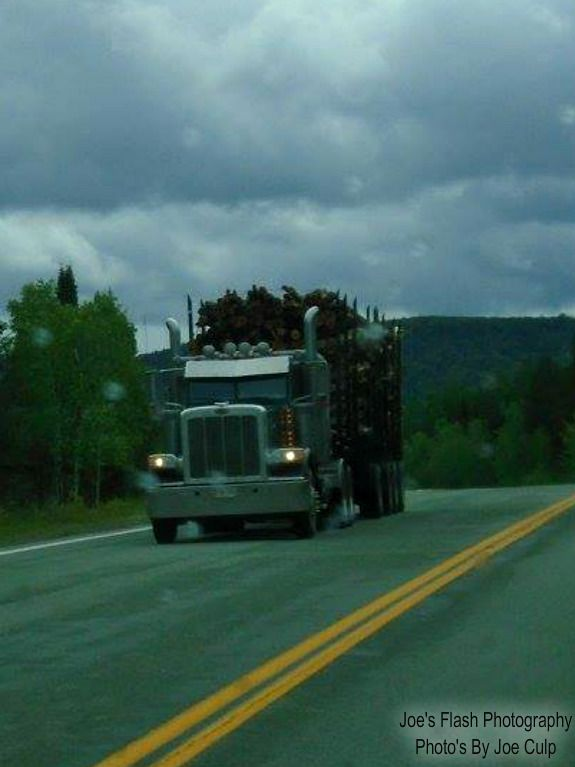 A Logging truck heading to a nearby Paper Mill in Nickawic New Brunswick September 1, 2017