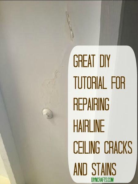 Great DIY Tutorial for Repairing Hairline #Ceiling Cracks and Stains