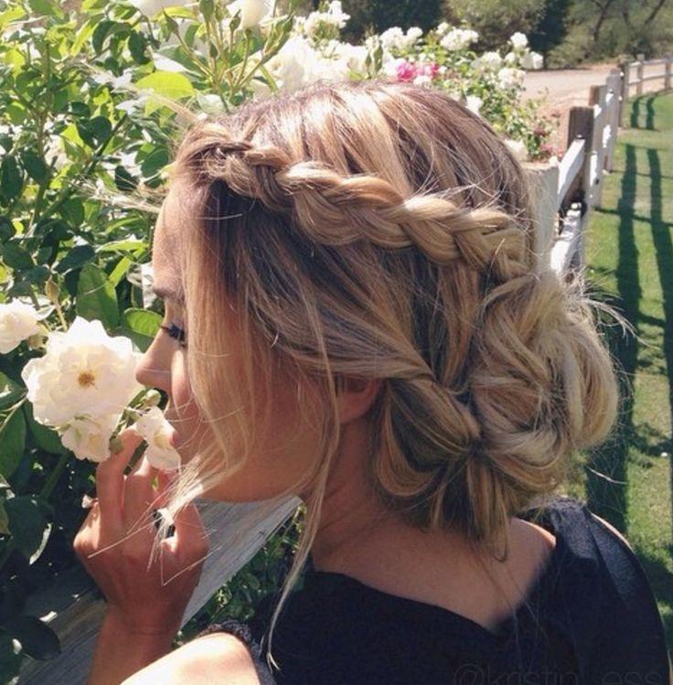 hair inspo lauren conrad braid updo bun