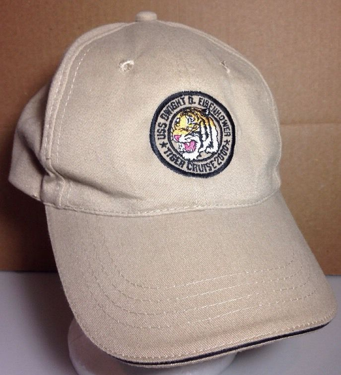 USS Dwight D Eisenhower Tiger Cruise 2000 Hat, Adjustable US Navy Cap #Zkapz #BaseballCap