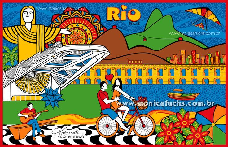 Rio Museu do Amanhã - disponível para Licenciamento para fabricantes de cangas, toalhas, cadernos, etc. Entre em contato através do e-mail: contato@monicafuchs.com.br