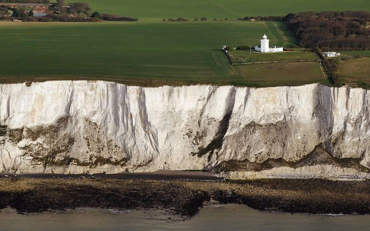 """William Shakespeare: White Cliffs of Dover """"There is a cliff, whose high and bending head Looks fearfully in the confined deep: Bring me but..."""