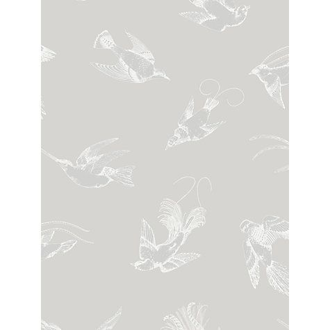 Buy Cole & Son Tropical Birds Wallpaper, Grey, 89/1002 Online at johnlewis.com