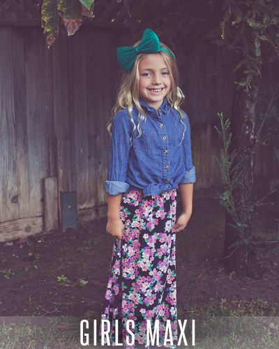 Our girls maxi skirt is perfect for the little lady who might like the idea  of - 64 Best LuLaRoe Kids Images On Pinterest Maxi Skirts, Pencil