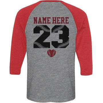 Baseball Softball Mom Jersey | Custom baseball shirts! Personalize a trendy triblend baseball mom jersey to wear to all your son's or daughter's games this year! Also good for the softball mom to wear. Go sports moms! #baseballmom #softballmom