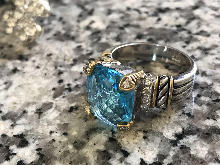CROWN 10 Carat Austrian Crystal Ring