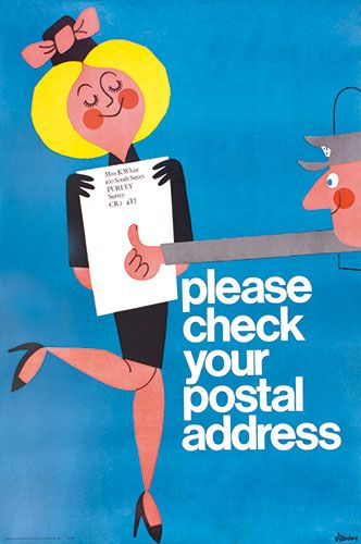 Credit: GPO/BPMA and BT Archive A public information poster from the GPO in the 1960s
