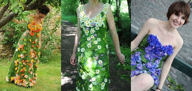 Can you believe that Bethsabée Beslon makes wedding gowns out of the REAL flowers?