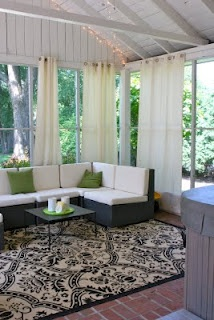 Porch Remodel - I love sun rooms. They are perfect in summer or winter.